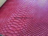 Padrão de serpente PVC em couro para Lady Handbag / Shouldbag / Wallet / Book Covered