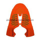 二重カラーFlyknitの靴甲革