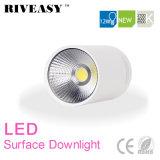 iluminación montada superficie de la luz blanca LED de Downlight de la MAZORCA de 12W LED