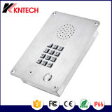 Telefone da prova da oxidação do aço inoxidável do intercomunicador do elevador do telefone Emergency Knzd-06 Kntech