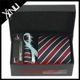 Jacquard 100% de seda Handmade jogo tecido da caixa de presente do laço dos homens