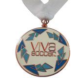工場リボン(XD-03028)が付いている直接作成水泳のスポーツ賞メダル