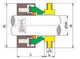 산업 펌프 기계적 밀봉 Ts Uw
