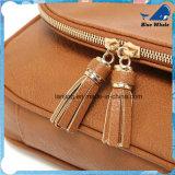 Sacos de couro do plutônio Crossbody do Zipper do Tassel da manufatura da fábrica