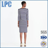 Frauen-Sommer Striped Baumwollkleid