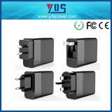3-Port Tipo-c rápido adaptador 48W del cargador 3.0 del teléfono de la pared