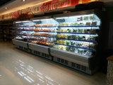 Réfrigérateur commercial d'étalage de supermarché pour des fruits et des boissons