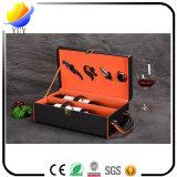 Подгонянная коробка вина кожи ранга верхней части коробки упаковки двойная