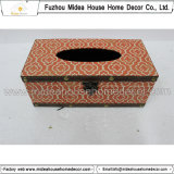 Handmade 화포 나무로 되는 조직 상자