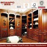 Wardrobe montado da madeira contínua quarto luxuoso (GSP9-014)