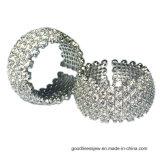 여자 (R10680)를 위한 작은 3A 백색 CZ를 가진 925 은에 의하여 박아 넣어지는 반지