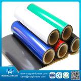 Papel de liberação de superfície PVC colorido flexível rolo ímã de borracha