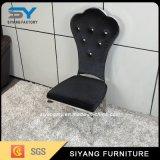 Cadeira do restaurante do couro do preto da mobília do aço inoxidável