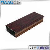 Couleur en bois expulsée de profil en aluminium thermique d'interruption pour le guichet