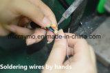 Plg plástico toma fija en el tamaño M0 / 3 pin conector circular con la tuerca