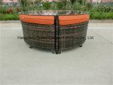 Sofá modular do Rattan da mobília do pátio ajustado com tabela
