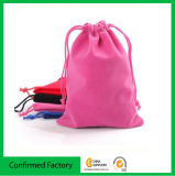 Venta al por mayor modificada para requisitos particulares del bolso del regalo del lazo del terciopelo de la joyería (directo de fábrica)