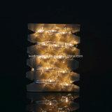 暖かく白い角度防水デザインの整形AA電池LEDストリングライト