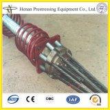12.7mmのプレストレスト繊維のためのPost-Tensioningの架橋工事のアンカーCouler
