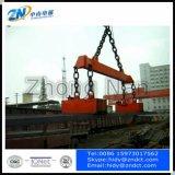 Zusammengerollte Stahlbillets, die MagnetSuiting für Kran MW22 anheben