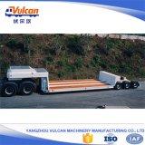 Fabrik geben Welle 3 60 Tonnen niedrige Bett-LKW-halb Schlussteil-an