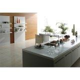 マットの現代流行の白いラッカー木の台所食器棚