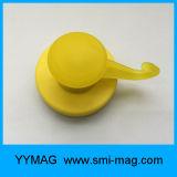 Coated цветастого неодимия резиновый подгоняют магнитный крюк