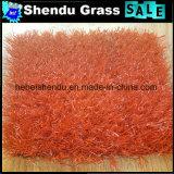 25mm 8800dtex 16800tuftの密度の赤い人工的な泥炭の草