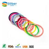 Fascia elastica dei capelli della donna del braccialetto del silicone di colore del Rainbow