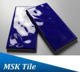 75X150mm Regentropfen-blaue glasig-glänzende keramische Untergrundbahn-Fliese
