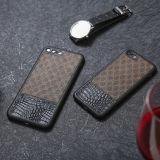 Neuf obtiennent la couverture en cuir de luxe de caisse de téléphone d'unité centrale pour le cas de l'iPhone 7