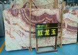 Suelo rojo del mármol del jade del Onyx del dragón de la venta caliente, pared para la decoración
