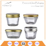 4oz de Kruik van het glas met Schroefdop voor de Verpakking van het Voedsel