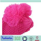 Kundenspezifische Sprung-Herbst-und Winter-Dame Acrylic Beanie Caps mit Pompom zwei
