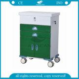 AG-GS004 avec un chariot à patient de bâti en métal d'hôpital de porte
