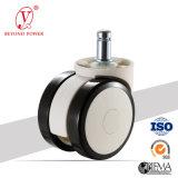 roue Castor&#160 de présidence de bureau de PVC de 60mm ; &#160 ; Chasse blanche de présidence de roue de chasse de meubles de chasses