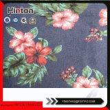 tissu du denim 9oz estampé par fleur pour Madame Garment Hotsale