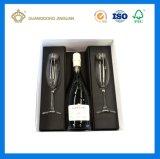 Het Vakje van de Gift van de Fles van Champagne van het document met het Tussenvoegsel van de Besnoeiing van de Matrijs (Doos van de Fles van de Wijn de Verpakkende)