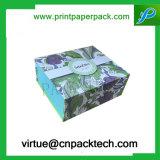 장식적인 디자인을%s 가진 인쇄된 접히는 엄밀한 마분지 종이 선물 수송용 포장 상자