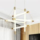 현대 간단한 식당 창조적인 Iron&Glass LED 관 샹들리에를 꾸민다