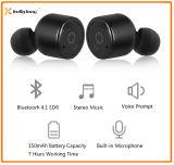 Receptor de cabeza estéreo sin hilos de Bluetooth de los gemelos con el micrófono