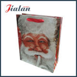 Saco de papel barato laminado Matte do Natal da promoção do projeto feito sob encomenda do logotipo