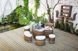옥외 고리 버들 세공 탁자 정원 가구
