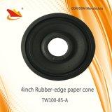 Muestra libre tamaño pequeño de 4 pulgadas de goma del borde del papel de cono de altavoz de cono de piezas