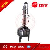 Destilador del alcohol de la vodka del acero inoxidable y del cobre con la torre