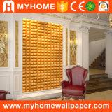Panneau de mur 3D décoratif de mur intérieur de panneau de plafond de PVC de matériau de construction