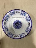Lavabo chino retro del plato del lavabo de colada del esmalte de la decoración de Traditonal