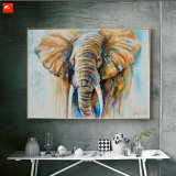 Pintura morna da lona de arte da parede do elefante africano dos animais selvagens do tom