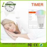 スマートフォンE27 7W 9W 12W RGB RGBW APPのWiFiスマートLED電球を変更昼&夜のライト調光多色の色を制御
