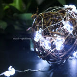 Het batterij In werking gestelde Koord van de Mens van de Sneeuw Zuivere Witte Lichte voor de Decoratie van de Kerstboom van de Vakantie